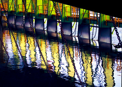 Floodgates in and Erie Canal Wier