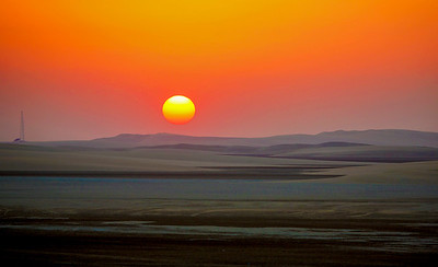 Sundown in southern Qatar