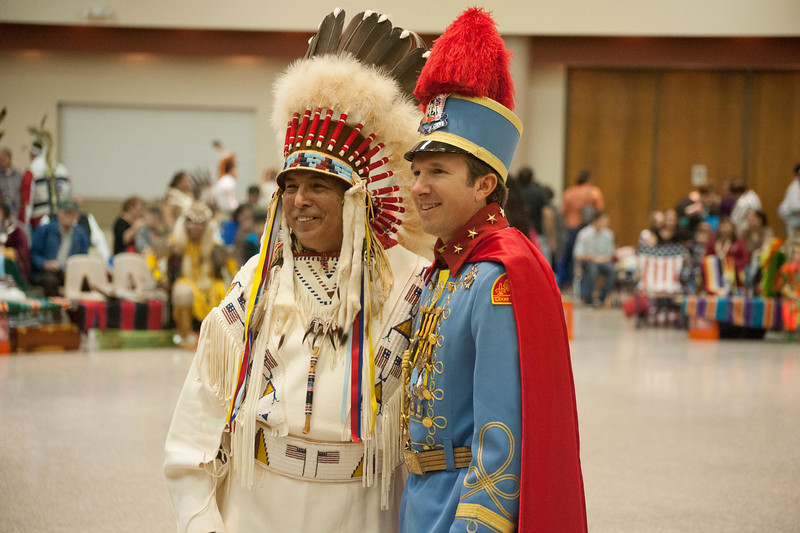 San Antonio's King Antonio with the Pow Wow Chief