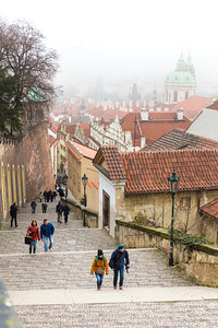 Stairs out of the Prague Castle area