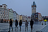 Prague Town Square, misting lightly
