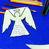 A prayer is written on a paper angel for missing 5-year-old Jeremiah Oliver of Fitchburg, Thursday at the Elm Street Community Church.<br /> SENTINEL & ENTERPRISE / BRETT CRAWFORD