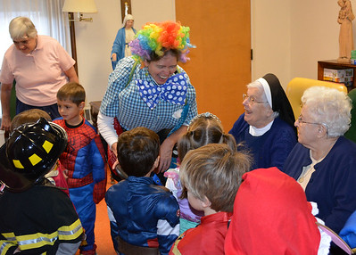Pre-K's Costume Parade to the Convent (10.30.15)