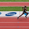 Mo Farah, Great Britain 5,000m ahead of Isaiah Kiplangat Koech of Kenya<br /> <br /> Mo Farah won the 10,000m at the London 2012 Olympics.