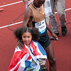 Mo Farah, Great Britain and his daughter Rhianna<br /> Mo won the London 2012 Olympics 10,000m Gold