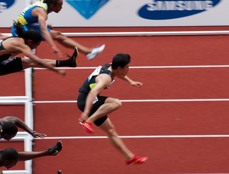 Li Xiang, China in action - 110m hurdles