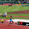 Asbel Kiprop, Kenya on his way to victory in the mile event.