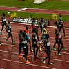 15 kenyans getting ready to compete in the 10,000m to qualify for the London Olympics