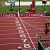 The finish line at Hayward Field, Eugene Oregon
