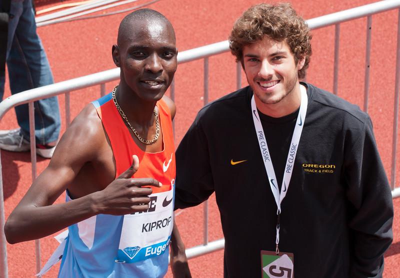 Asbel Kiprop, Kenya - winner of the mile event<br /> Gold medalist 1,500m Beijing Olympics