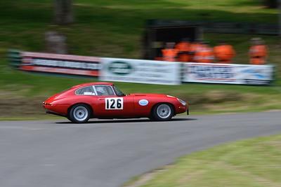 Prescott Speed Hill Climb 2016 La Vie en Bleu - Jaguar E Type 1964 Paul Slade
