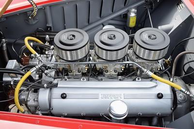 Prescott Speed Hill Climb 2016 La Vie en Bleu - Ferrari 225 Sport Spyder Vignale Engine bay