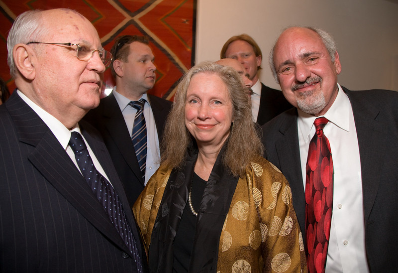 President Mikhail Gorbachev, Mr. and Mrs. Stuart Ashman (Cabinet Secretary, New Mexico Department of Cultural Affairs).