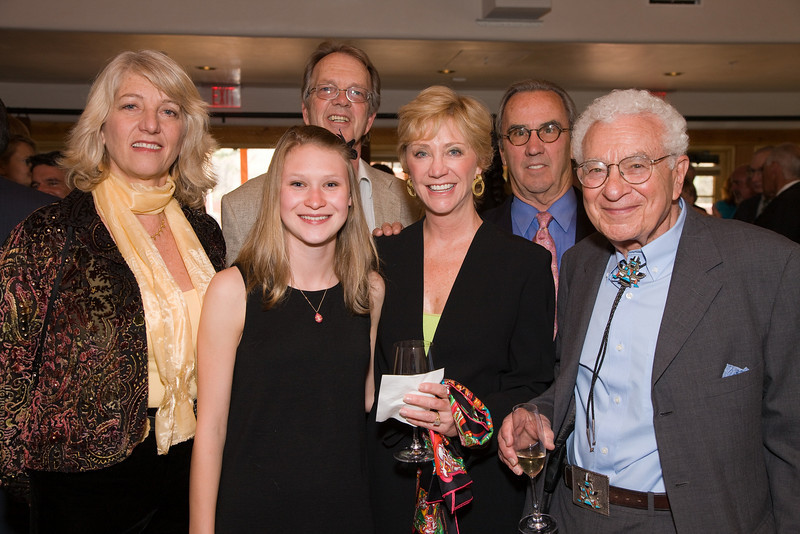 Left to right:  Nancy Kenney, Taylor Thorne, Robert Althouse, Melanie Peters, Ed Thorne, Dr. Murray Gell-Mann