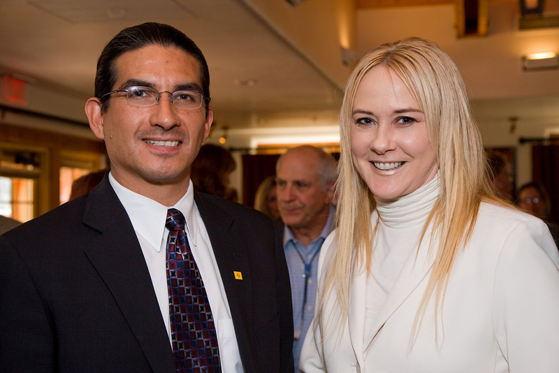 New Mexico Secretary of Indian Affairs Alvin Warren and Rima Krisst (NM Department of Finance Public Information Officer)