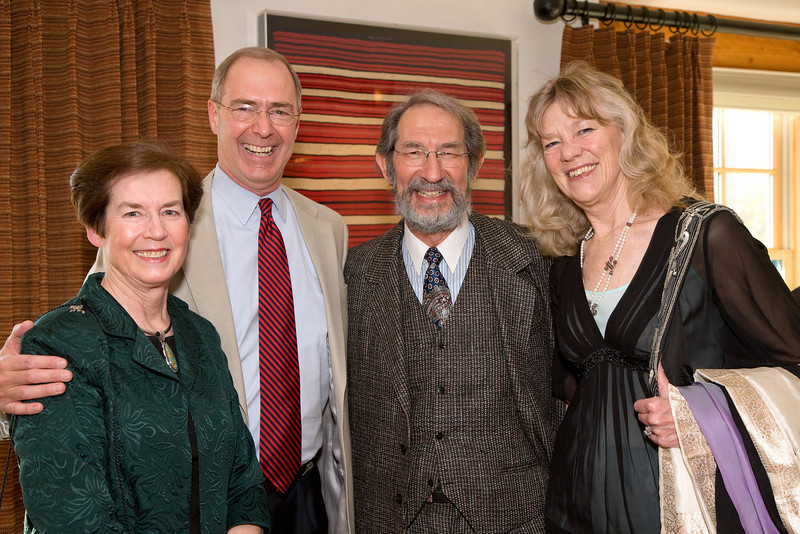 Eleanor and Michael Peters, President of Saint John's College; Geoffrey and Jacqueline West