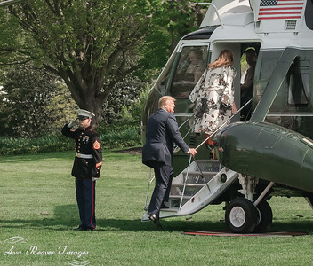 Boarding Marine One