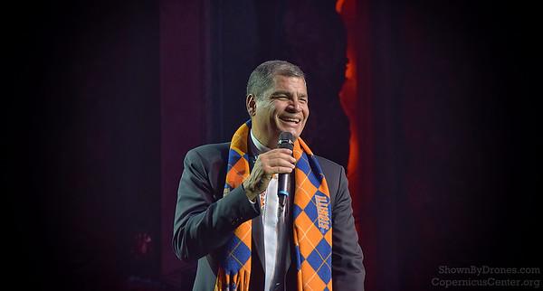 President of Ecuador - Rafael Correa in Chicago