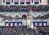 Closer shot of Biden reciting the oath> Unfort tripods were banned so it was hard to get a clean shot