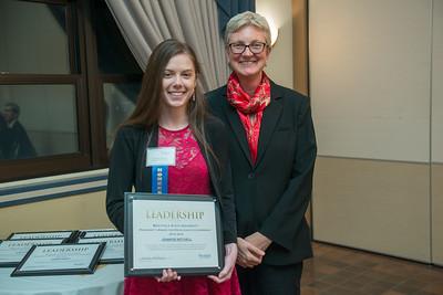 President's Award Dinner ceremony at Westfield State University, December, 2015
