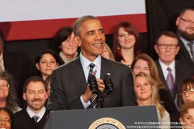 Presidents Barack Obama at the Copernicus Center