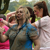 A team of Braehead Clan ladies get dirty during Scotland's first Pretty Muddy event