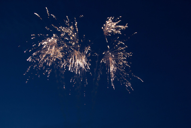 Fireworks at the beacon Jubilee Beacon at Dear Leap 4th June 2012