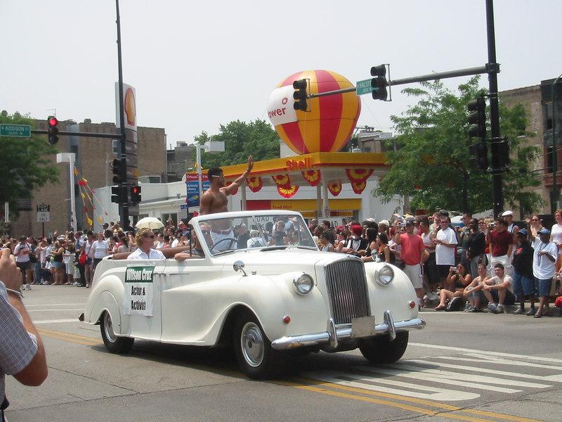 Gay Pride 2005 - Wilson Cruz leads the way.
