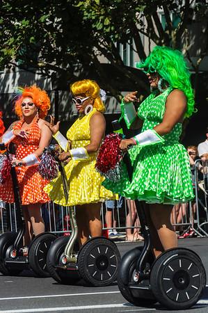 Queens on Wheels Pride Parade Ponsonby Road Auckland
