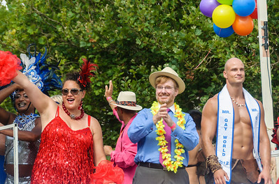 The US Ambassador to New Zealand and Mr Gay World 2012 Pride Parrade Ponsonby Road Auckland