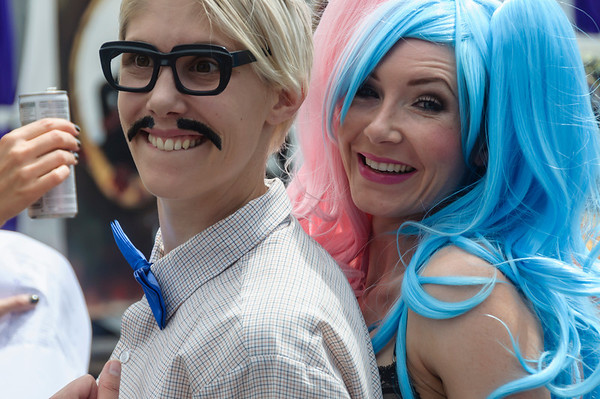 Two participants dressed for the Pride Parade Ponsonby Auckland
