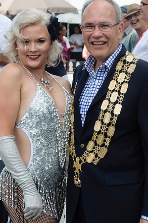 His Worship the Mayor of Auckland Len Brown with a fan Pride Parade Ponsonby Road Auckland