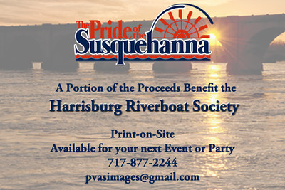 The Images from the Inaugural Cruise <br /> are available for free download. <br /> Simply right click and save!<br /> <br /> Prints t-shirts and mugs <br /> are available for purchase.<br /> <br /> Proceeds Benefit <br /> The Harrisburg Riverboat Society. <br /> So it's like donating and getting a momento of the Inaugural Cruise 2012 for free...kinda<br /> <br /> Support The Pride !