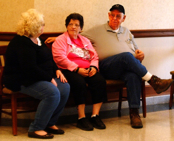 Diane Raver | The Herald-Tribune<br /> Nancy Curry (from left) and Martha and Bill Dramann talk while waiting for returns in Versailles.