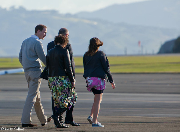 Prince William Departs After Earthquake Memorial, Wellington International Airport, 19 March 2011