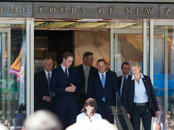 HRH Prince William in Wellington to Open the New Supreme Court Building,18 January 2010
