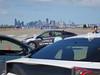 San Francisco at the end of the runway