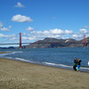 The event took place at Chrissy Field, in the Marina District of SF. This is the view of The Golden Gate Bridge, looking West.