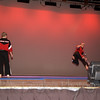"Sensei Joe and Dakota ""Hollywood"" perform for the crowd"