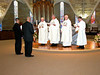 Long and Clay before members of the formation team, Fr. Tom Cassidy (provincial superior) and Dn. Mark Mastin.