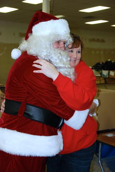 Jennifer Ensz with Santa.