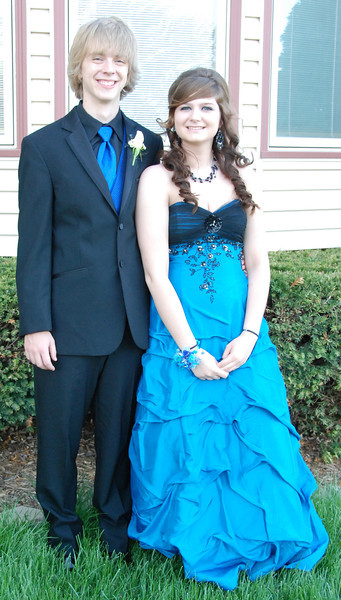 Jeremy Cassiday and his date, friend Sarah Schafer.