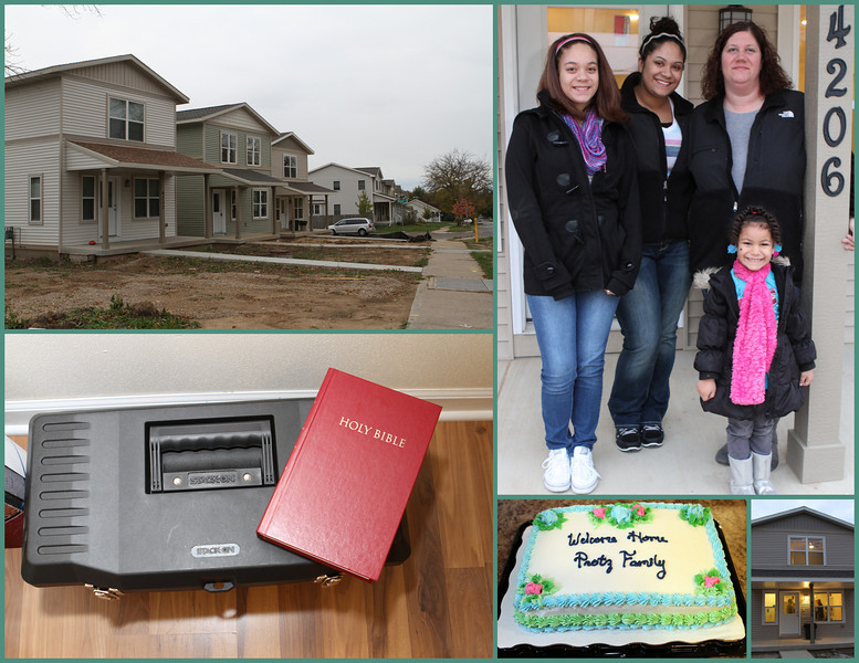 Protz Family Habitat House Blessing