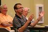 Fr. Greg Schill asks a question
