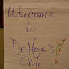 "The working process for Thursday turned the conference hall into the ""Dehon Cafe."""