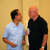 Fr. Quang Nguyen and Fr. Richard MacDonald catch up.