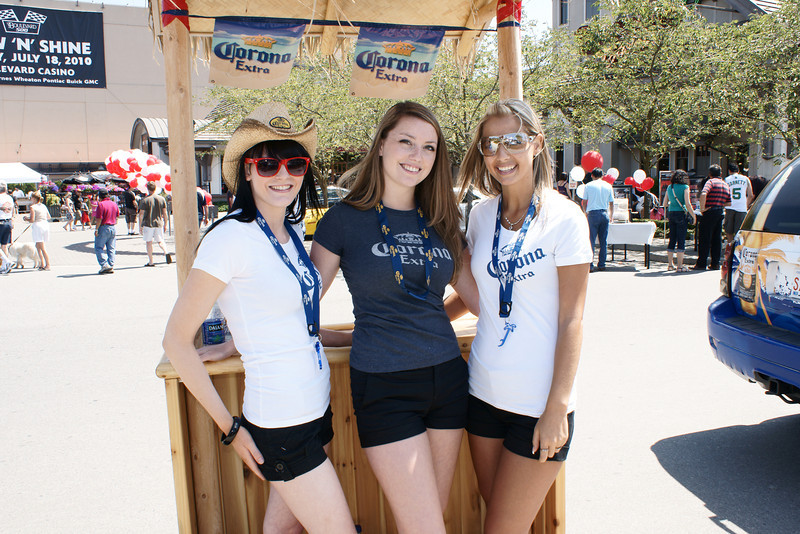 Corona Girls at Boulevard 500 Show 'n' Shine at Boulevard Casino.