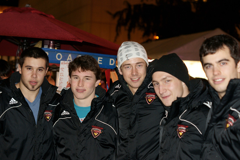 Vancouver Giants at Tree lighting ceremony Vancouver 2010