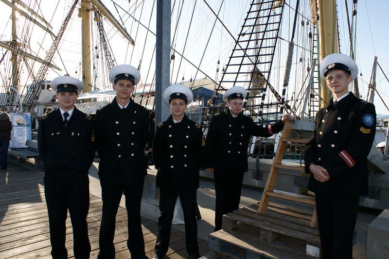Russian tall ship visits Vancouver.