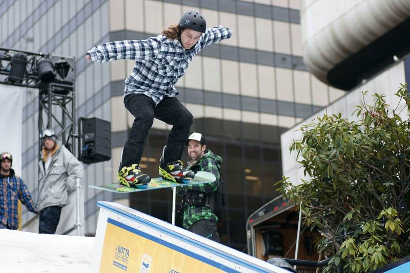 Winter Squared Rail Competition at Robson Square Vancouver 2010.